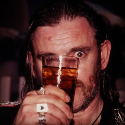 lemmy wearing great frog rings
